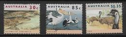 AUSTRALIA 1994, Crocodile, Pelican And Ostriches - Autruches