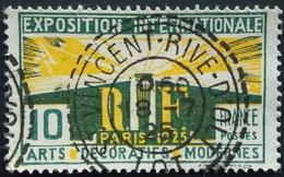1925 France  Yt:FR 210, Mi:FR 177 - Paris- Art Exhibition - Superbe Oblitération Perlé INCENT RIVE D'OLT  .LOT - France