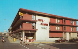 Madison Wisconsin, Town Campus Motel, Street Scene Ford Mustang Motorcycle C1960s Vintage Postcard - Madison