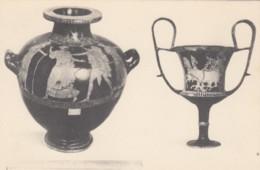 Greeece Museum Piece, Urn Vase Drinking Cup Greek Art Work, C1920s/30s Vintage Postcard - Greece