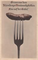 Nuernberg Germany, Nuernberger Batrwurstgloenklein Sausage Festival, C1920s Vintage Postcard - Nuernberg
