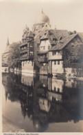 Nuernberg Germany, Partie An Der Pegnitz River Scene Houses, C1920s/30s Vintage Real Photo Postcard - Nuernberg