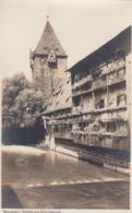Nuernberg Germany, Partie Am Schuldturm Debtor's Prison, Houses And River Scene, C1920s/30s Vintage Real Photo Postcard - Nuernberg