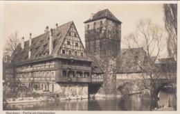 Nuernberg Germany, Henkersteg Hangman's Bridge, C1920s/30s Vintage Real Photo Postcard - Nuernberg