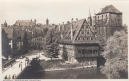 Nuernberg Germany, Partie An Der Maxbruecke Max Bridge Neighborhood, C1920s/30s Vintage Real Photo Postcard - Nuernberg