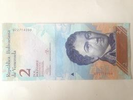 Billete Nicolás Maduro. República Bolivariana De Venezuela. 2 Bolívares. Octubre 2013. Francisco De Miranda Sin Circular - Venezuela
