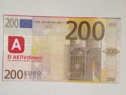 Billete 200 Euros. 2001. España. Europa. Facsimil. Sin Serie. Sin Circular - EURO
