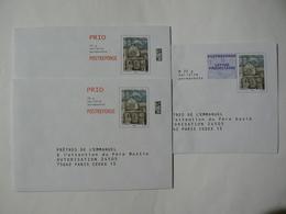 Postréponse Prio 20g, 3 Enveloppes, PRÊTRES DE L'EMMANUEL, 20g Validité Permanente TB. - Entiers Postaux