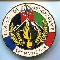 H787 MEDAILLE DE TABLE OPEX FORCE DE GENDARMERIE AFGHANISTAN BOUSSEMART 70MM - Police & Gendarmerie