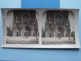 ROUEN : Façade De St. Ouen : S. 44 - 4155 ( Maison De La Bonne Presse VUES De FRANCE ) Stereo Photo ! - Photos Stéréoscopiques