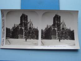 ROUEN : Eglise St. Vincent, Façade : S. 46 - 4178 ( Maison De La Bonne Presse VUES De FRANCE ) Stereo Photo ! - Photos Stéréoscopiques