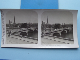 ROUEN : Le Pont Corneille : S. 45 - 4174 ( Maison De La Bonne Presse VUES De FRANC) Stereo Photo ! - Photos Stéréoscopiques