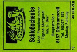 1 Altes Gasthausetikett, Schloßschenke, 8157 Dietramszell #36 - Boites D'allumettes - Etiquettes