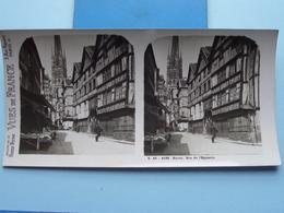 ROUEN : Rue De L'Epicerie : S. 45 - 4166 ( Maison De La Bonne Presse VUES De FRANCE ) Stereo Photo ! - Photos Stéréoscopiques