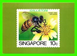 TIMBRES REPRÉSENTATIONS - SINGAPORE, HONEY BEE, APIS JAVANA - AMERIPEX, 1986 CHICAGO - - Timbres (représentations)