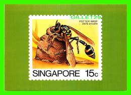TIMBRES REPRÉSENTATIONS - SINGAPORE, POTTER WASP, DELTA ARCUATA - AMERIPEX, 1986 CHICAGO - - Stamps (pictures)