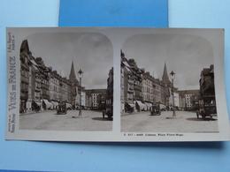 LISIEUX : Place Victor-Hugo : S. 217 - 4449 ( Maison De La Bonne Presse VUES De FRANCE ) Stereo Photo ! - Stereoscoop