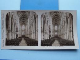 LISIEUX : St. Jacques - L'Interieur : S. 217 - 4453 ( Maison De La Bonne Presse VUES De FRANCE ) Stereo Photo ! - Photos Stéréoscopiques