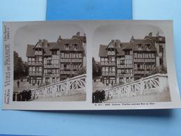 LISIEUX : Vieille Maisons Rue Au Char : S. 217 - 4455 ( Maison De La Bonne Presse VUES De FRANCE ) Stereo Photo ! - Photos Stéréoscopiques