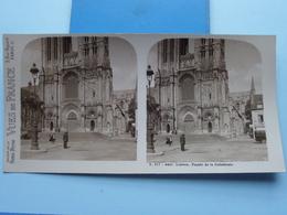 LISIEUX : Façade De La Cathédrale : S. 217 - 4447 ( Maison De La Bonne Presse VUES De FRANCE ) Stereo Photo ! - Photos Stéréoscopiques