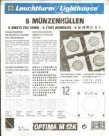 LEUCHTTURM - Feuilles OPTIMA M 12 K (5) (pour étuis Cartonnés) - Matériel