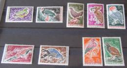 Côte D'Ivoire - 2 Séries Oiseaux - 9 Timbres Neufs** 1965 / 1966 YT N°238 à 242 Et 249 à 252 - Côte D'Ivoire (1960-...)