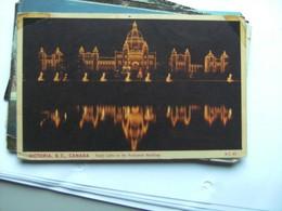Canada BC Victoria Parliament Buildings Night Lights - Victoria