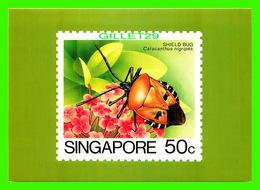 TIMBRES REPRÉSENTATIONS - SINGAPORE, SHIELD BUG, CATACANTHUS NIGRIPES - AMERIPEX, 1986 CHICAGO - - Stamps (pictures)