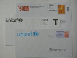 2 Enveloppes Postréponse Prio 20g, Beaujard + APPRENTIS D'AUTEUIL, Validité Permanente TB + 1 Enveloppe T UNICEF. - Entiers Postaux