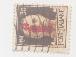 Sello República Social Italiana. 30 Cts. Fascista. II Guerra Mundial. 1939-1945. Rey Vittorio Emmanuele - 4. 1944-45 Repubblica Sociale