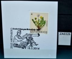 ZA0326 HIBRIA 2014, Gedenkjahr 2014, WW I, 1. Weltkrieg, Maschinengewehr, Waffe, 2552 Hirtenberg AT 17.5.2014 - Machine Stamps (ATM)
