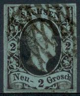 Altdeutschland Sachsen 1851, 1 Freimarke König Friedrich August, Mi. # 5, Gestempelt Und Geprüft. - Saxe