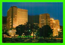 HONG KONG, CHINE - VIEW OF THE BANKING AREA AT NIGHT & HONG KONG HILTON HOTEL - - Chine (Hong Kong)
