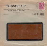 """SAINTE LIVRADE SUR LOT    Enveloppe  """" TRUSSANT & Cie """" Fournitures Générale Pour Boucherie - France"""