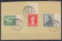 US & Britische Zone 1949, 1 Satz J. W. V. Goethe, Mi. # 108 - 110, Nicht Gelaufen - Zone Anglo-Américaine