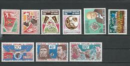CONGO Scott 316-7, C183, C187, C192, C200, C184-6 Yvert 357-8, PA188, PA192,PA202,PA196,PA185-6 (9) ** Cote 14,20 $ 1974 - Congo - Brazzaville