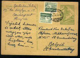 B01 - Hungary - 1954 - Postal Stationery - Used - Factory Steam Train Railways - Entiers Postaux