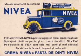 NIVEA : PÂTE DENTIFRICE & AUTOMOBILE / TOOTH PASTE & CAR - C.P. PUBLICITAIRE / ADVERTISING ~ 1930 - '35 - RRR !! (ab070) - Advertising