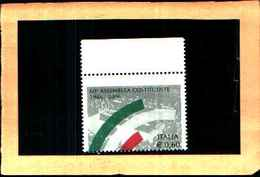 73666)- Italia Repubblica-2006 Francobollo 60 Anniversario Dell'ass.Costituente Varietà DENTELLATURA SPOSTATA -MNH** - 6. 1946-.. República