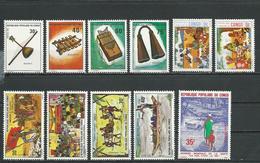 CONGO Scott 340-3, 331-2, 329-0, 366-7, 419 Yvert 390-3, 381-2, 373-4, 446-7, 469 (11) ** Cote 11,00 $ 1975-7 - Congo - Brazzaville