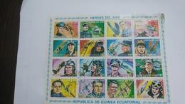 Republica De Guinea Ecuatorial-(heroes Del Aire)-(block 16stamps)-mint - Stamps