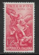 Italy, Scott # 658 MNH Interpol, 1954 - 1946-60: Mint/hinged