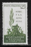 Italy, Scott # 770 MNH War Veterans Conention, 1959 - 1946-60: Mint/hinged