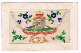 Carte  Brodée - Tissu   - Allemagne - RFA - UBIQUE - QUO  FAS ET GLORIA  DUCUNT - 3685 - Patriotiques
