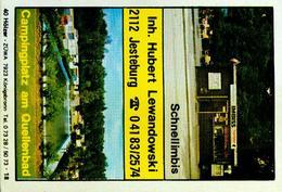 20 Alte Gasthausetiketten, Schnellimbis, Campingplatz Am Quellenbad, 2112 Jesteburg #37 - Boites D'allumettes - Etiquettes