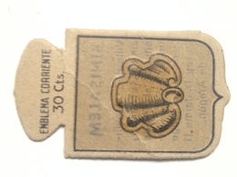 Emblema De Auxilio Social De 30 Cts De Binisalem, Baleares. Serie B. Nº 13. Guerra Civil Española. 1936-1939 - 1939-45