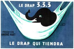 D A H/Buvard Drap André Huet (N= 2) - Buvards, Protège-cahiers Illustrés