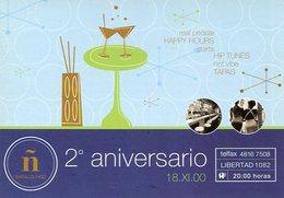 2° ANIVERSARIO Ñ BAR & LOUNGE 2000 VIA POSTAL MODERNA PUBLICIDAD ARGENTINA  -LILHU - Reclame