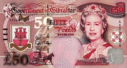 """GIBRALTAR 50 POUNDS 1995 UNC P-28a """"free Shipping Via Registered Air Mail"""" - Gibraltar"""