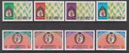 1991 Bahrain 30th Anniv Coronation Sheik Isa Portrait Set Of 8 MNH - Bahreïn (1965-...)
